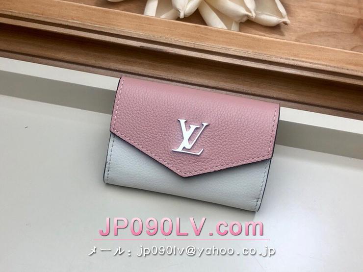 ルイヴィトン カーフ 財布 コピー M63978 「LOUIS VUITTON」 ポルトフォイユ・ロックミニ レディース 三つ折り財布 2色可選択 ローズバレーブロンマイトノワール