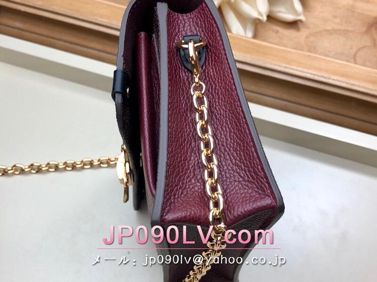 ルイヴィトン ダミエ・エベヌ 財布 コピー N60222 「LOUIS VUITTON」 ポルトフォイユ・ヴァヴァン チェーン レディース 二つ折り財布 3色可選択 ブラウン
