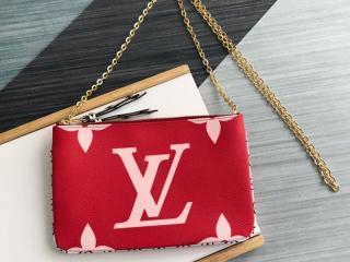 ルイヴィトン モノグラム 財布 スーパーコピー M67561 「LOUIS VUITTON」 ポシェット・ドゥーブル ジップ レディース ラウンドファスナー財布