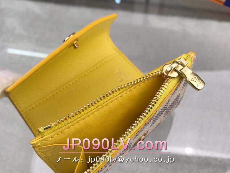 ルイヴィトン ダミエ・アズール 財布 コピー N60220 「LOUIS VUITTON」 ポルトフォイユ・ゾエ レディース 三つ折り財布 2色可選択 パイナップル