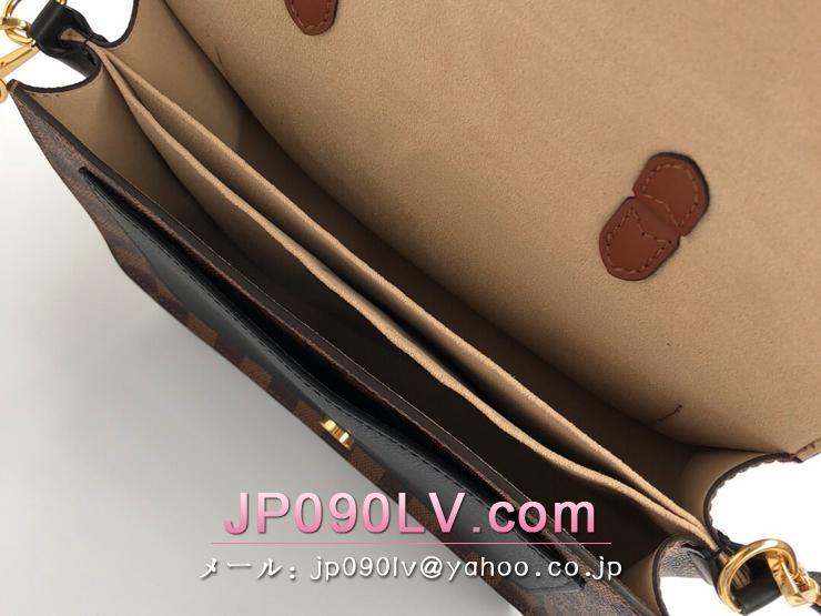 ルイヴィトン ダミエ・エベヌ バッグ スーパーコピー N40146 「LOUIS VUITTON」 クロスボディ PM ハンドバッグ レディース ショルダーバッグ 3色可選択 ノワール