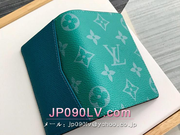 ルイヴィトン タイガ 財布 コピー M30319 「LOUIS VUITTON」 オーガナイザー・ドゥ ポッシュ モノグラム メンズ 二つ折り財布 3色可選択 ヴェール