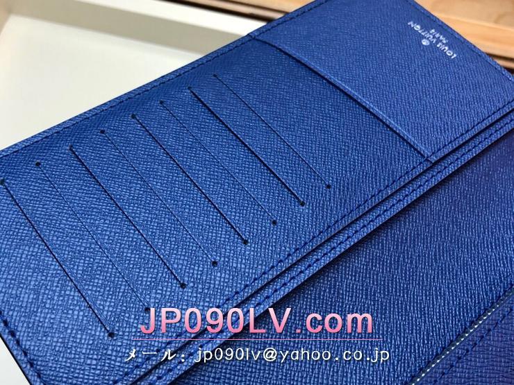 ルイヴィトン タイガ 長財布 コピー M30297 「LOUIS VUITTON」 ポルトフォイユ・ブラザ モノグラム メンズ 二つ折り財布 2色可選択 コバルト