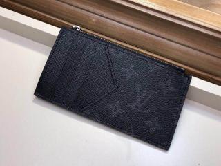 ルイヴィトン タイガ 財布 コピー M30271 「LOUIS VUITTON」 コインカード・フォルダー モノグラム メンズ ラウンドファスナー財布 ノワール