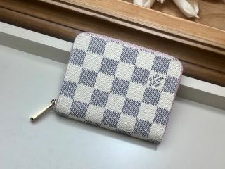 ルイヴィトン ダミエ・アズール 財布 コピー N60229 「LOUIS VUITTON」 ジッピー・コインパース レディース ラウンドファスナー財布