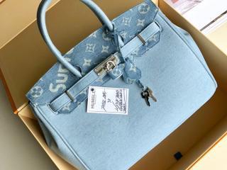 ルイヴィトン シュプリーム バッグ スーパーコピー M48888-30 LOUIS VUITTON x SUPREME Humble Travel Bag Birkin レディース ショルダーバッグ