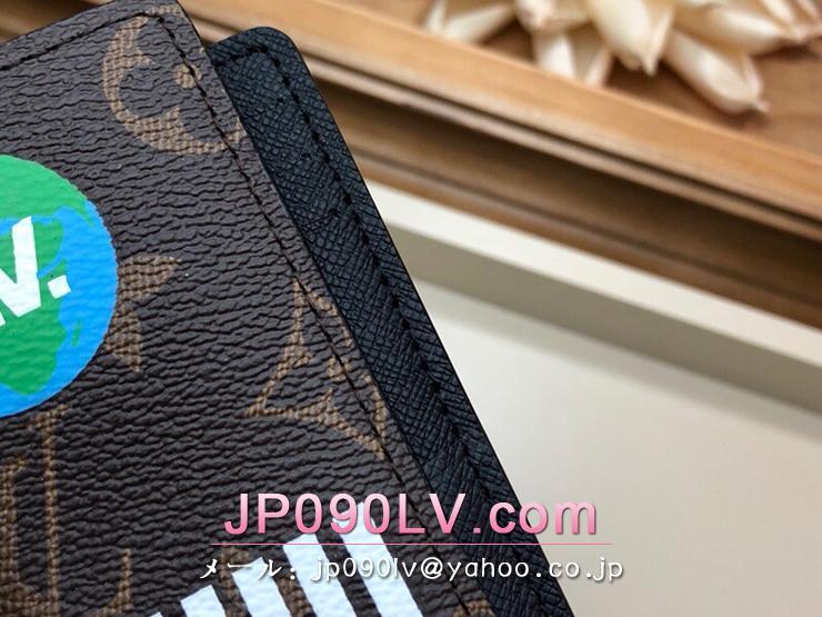 ルイヴィトン モノグラム 財布 スーパーコピー M67818 「LOUIS VUITTON」 オーガナイザー・ドゥ ポッシュ メンズ 二つ折り財布 2色可選択 マロン