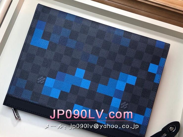 ルイヴィトン ダミエ・グラフィット バッグ スーパーコピー N60174 「LOUIS VUITTON」 ポシェット・ヴォワヤージュ MM メンズ クラッチバッグ