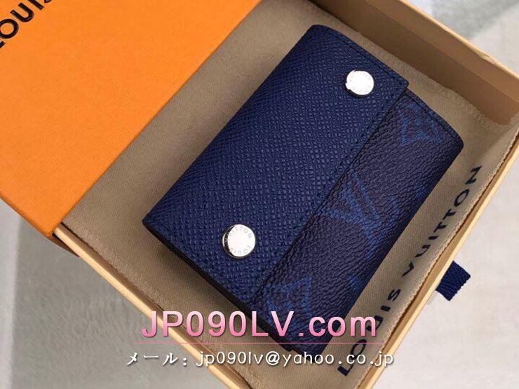 ルイヴィトン タイガ 財布 コピー M67620 「LOUIS VUITTON」 ディスカバリー・コンパクト ウォレット モノグラム メンズ 三つ折り財布 4色可選択 コバルト