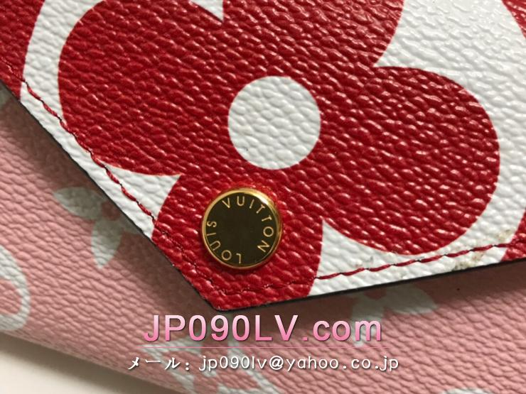 ルイヴィトン モノグラム 財布 スーパーコピー M67641 「LOUIS VUITTON」 ポルトフォイユ・ゾエ レディース 三つ折り財布 3色可選択 ルージュ