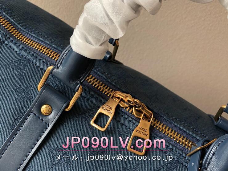 ルイヴィトン モノグラム・デニム バッグ コピー M44645 「LOUIS VUITTON」 キーポル・バンドリエール 50 メンズ ボストンバッグ