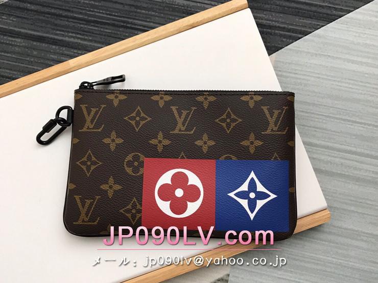 ルイヴィトン モノグラム 財布 コピー M67814 「LOUIS VUITTON」 ジップド・ポーチ MM メンズ ラウンドファスナー財布