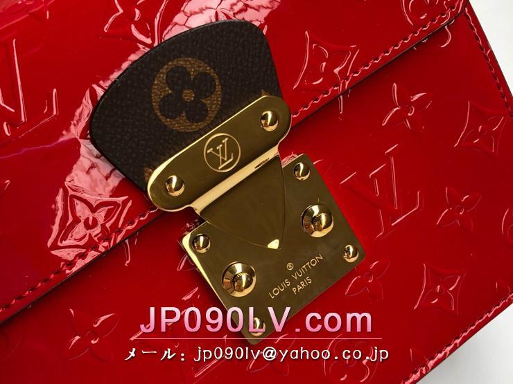 ルイヴィトン モノグラム・ヴェルニ バッグ スーパーコピー M90505 「LOUIS VUITTON」 スプリング・ストリート PM ハンドバッグ レディース ショルダーバッグ 5色可選択 スカーレット