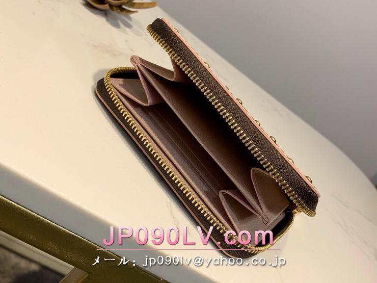 ルイヴィトン ダミエ・エベヌ 財布 スーパーコピー N60250 「LOUIS VUITTON」 ジッピー・コインパース レディース ラウンドファスナー財布