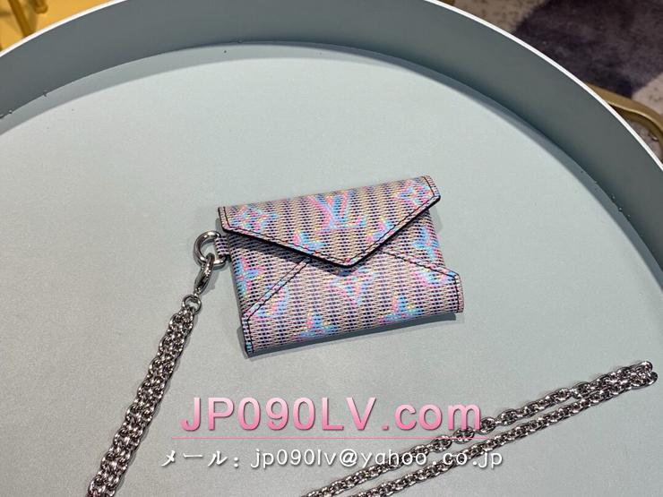 ルイヴィトン モノグラム 財布 コピー M68613 「LOUIS VUITTON」 キリガミ ネックレス レディース 二つ折り財布 ブルー