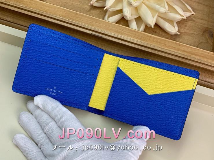 ルイヴィトン ダミエ・グラフィット 財布 スーパーコピー M67896 「LOUIS VUITTON」 ポルトフォイユ・ミュルティプル メンズ エピ 二つ折り財布