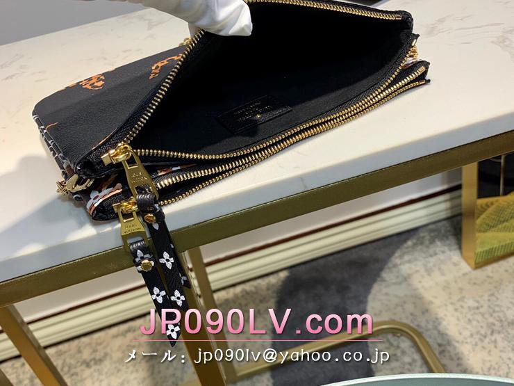 ルイヴィトン ジャイアント・モノグラム 財布 スーパーコピー M67874 「LOUIS VUITTON」 ポシェット・ドゥーブル ジップ レディース ショルダーバッグ