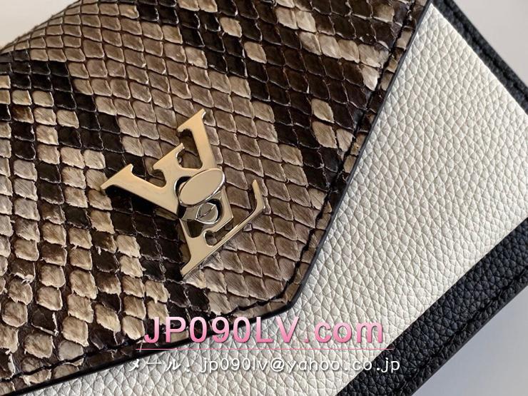 ルイヴィトン パイソン バッグ コピー N97000 「LOUIS VUITTON」 19AW新作 ポシェット・ロックミーチェーン レディース ショルダーバッグ