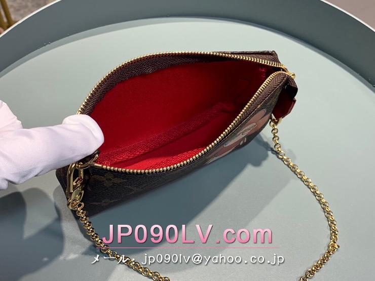 ルイヴィトン モノグラム 財布 スーパーコピー M69056 「LOUIS VUITTON」  【日本限定】ミニ・ポシェット・アクセソワール レディース ラウンドファスナー財布