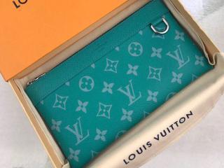 ルイヴィトン タイガ 長財布 スーパーコピー M30280 「LOUIS VUITTON」 ポシェット・ディスカバリー PM モノグラム メンズ ラウンドファスナー財布 2色可選択 ヴェール