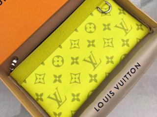 ルイヴィトン タイガ 長財布 コピー M30281 「LOUIS VUITTON」 ポシェット・ディスカバリー PM モノグラム メンズ ラウンドファスナー財布 2色可選択 ジョーヌ