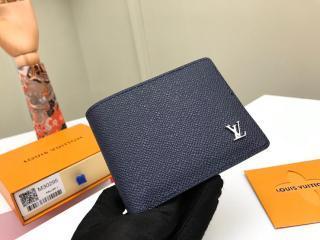 ルイヴィトン タイガ 財布 スーパーコピー M30282 「LOUIS VUITTON」 ポルトフォイユ・ミュルティプル メンズ 二つ折り財布 2色可選択 ネイビー