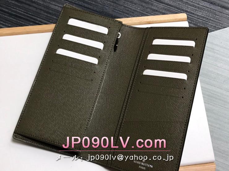 ルイヴィトン モノグラム・エクリプス 長財布 スーパーコピー M69260 「LOUIS VUITTON」 BRAZZA ポルトフォイユ・ブラザ メンズ 二つ折り財布