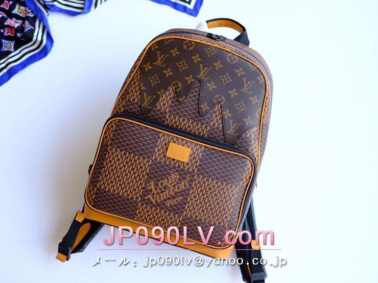 ルイヴィトン ダミエ・エベヌ バッグ コピー N40380 「LOUIS VUITTON」 キャンパス・バックパック メンズバッグ