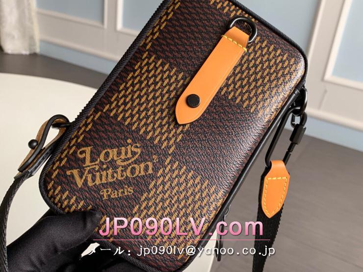 ルイヴィトン ダミエ・エベヌ バッグ スーパーコピー N40377 「LOUIS VUITTON」 20新作 ダブル・フォン ポーチ メンズ ショルダーバッグ