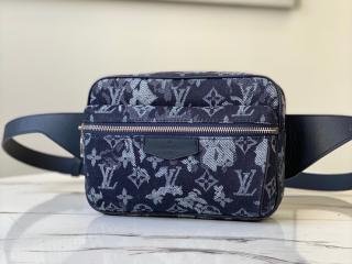 ルイヴィトン モノグラム・タペストリー バッグ スーパーコピー M57281 「LOUIS VUITTON」 20新作 バムバッグ・アウトドア メンズバッグ