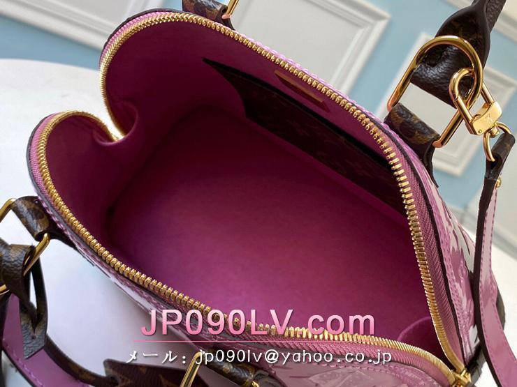 ルイヴィトン モノグラム・ヴェルニ バッグ コピー M90583 「LOUIS VUITTON」 20新作 アルマ BB レディース ショルダーバッグ 2色可選択 ローズパール