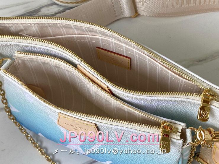 ルイヴィトン モノグラム バッグ スーパーコピー M57633 「LOUIS VUITTON」 21新作 ミュルティ・ポシェット・アクセソワール レディース ショルダーバッグ 2色可選択 ブルー