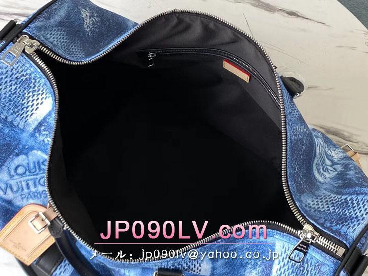 ルイヴィトン ダミエ・ソルト バッグ スーパーコピー N50059 「LOUIS VUITTON」 21新作 キーポル・バンドリエール 50 メンズ ボストンバッグ 2色可選択 マリーヌ