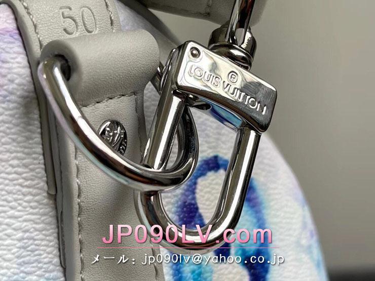ルイヴィトン ウォーターカラー・モノグラム バッグ コピー M45758 「LOUIS VUITTON」 21新作 キーポル・バンドリエール 50 メンズ ボストンバッグ